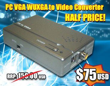 PC VGA WUXGA to Video Converter  - save 50%