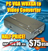 PC VGA WUXGA to Video Converter  - save 50%