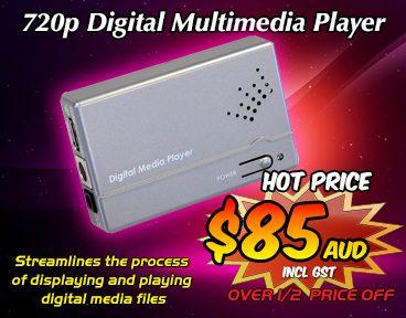 720p Digital Multimedia Player