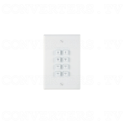 Control Keypad Wall Plate 8 Button w/ 48V PoE