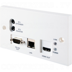 HDBaseT HDMI over CAT5e/6/7 Wallplate Receiver with 24vPoC and LAN Serving