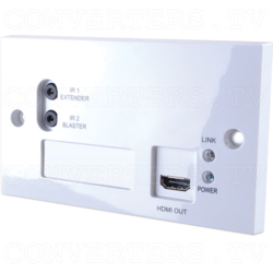 4K2K and 3D over CAT5e/6/7 Wall-plate Receiver with 24V PoC