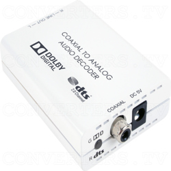 Digital Co-ax to Analog L/R Audio Converter (with Dolby Digital and DTSM 2.0 Decoder)