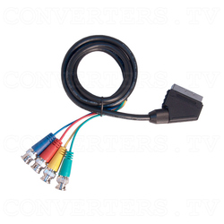 Scart to 4x BNC Cable