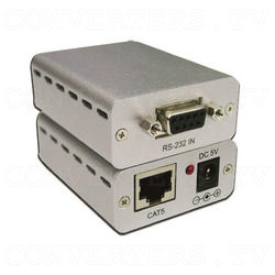 RS-232 Over CAT5 Cable Transmitter and Receiver Extender
