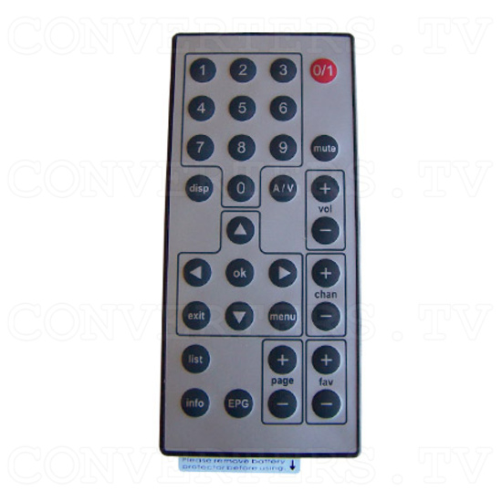 Wireless Digital TV Receiver - Remote Control