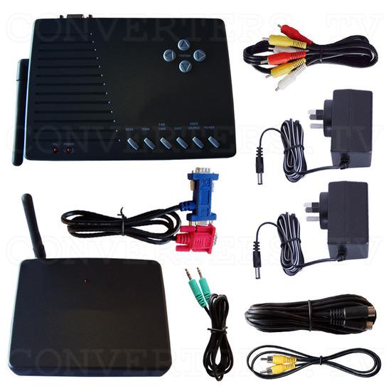 PC to TV Converter with 2.4Ghz AV sender - Full Kit