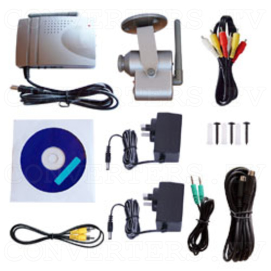 2.4GHz wireless CMOS camera & receiver with USB Video Capture - Full Kit