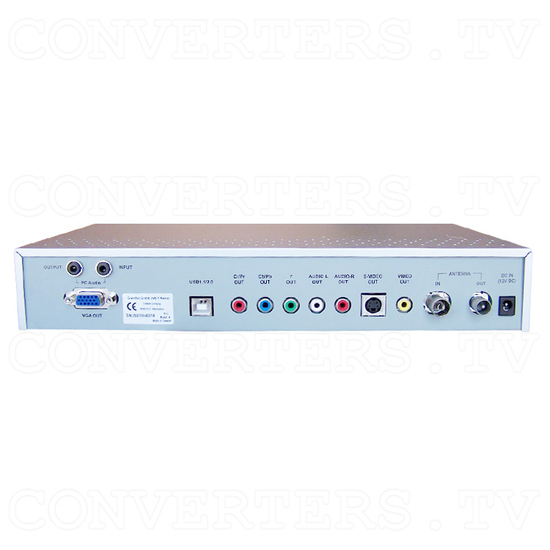 Digital Video & Audio Set Top Box with Recording - Back View