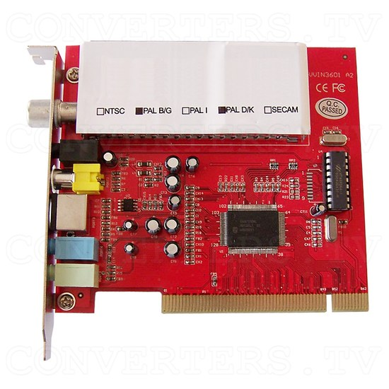 PCI TV Card with PAL AV Input - Top View