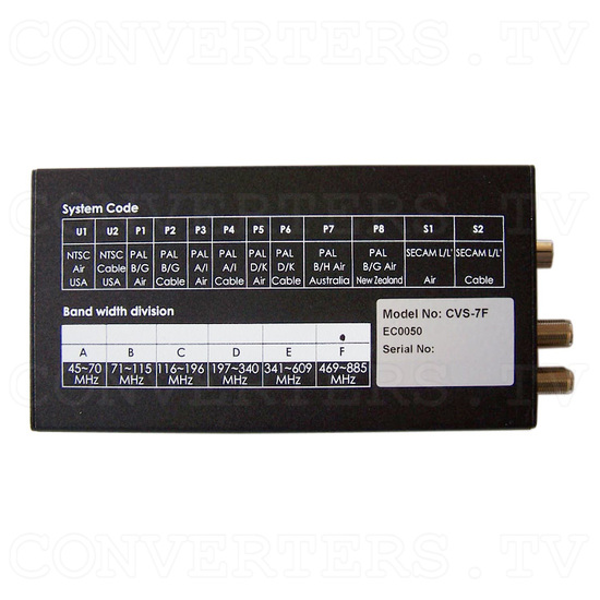 VHF/UHF Agile Modulator - Bottom View
