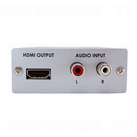 PC/HD with Audio to HDMI Format Converter - Back View