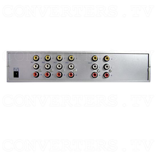 4 Input 2 Output AV Selector (AV-5310) - Back View