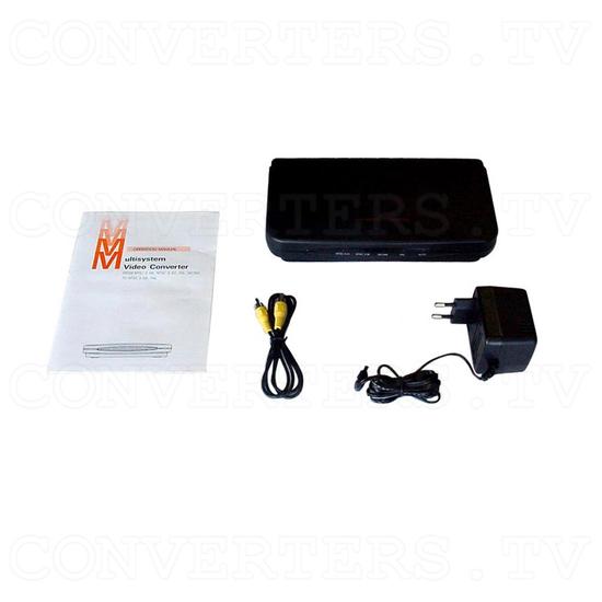 PAL to NTSC (NTSC to PAL) Video Converter / Convertor (CDM-600) - Full Kit