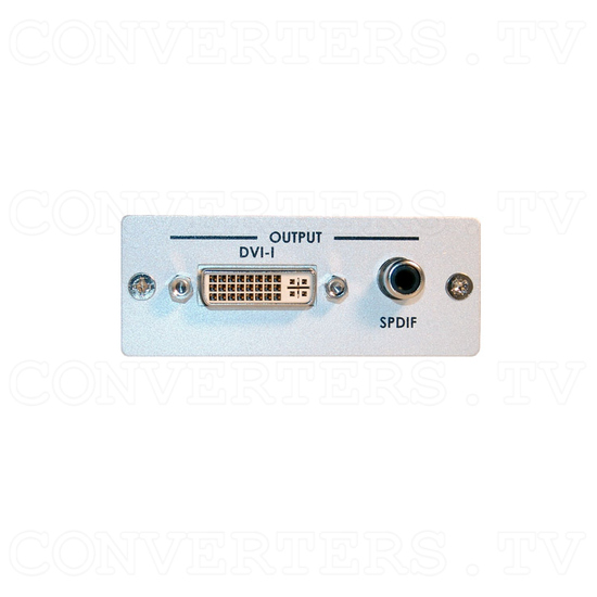 HDMI to DVI-D Converter with SPDIF Digital Audio - Front View