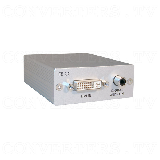 DVI with Digital Audio to HDMI Converter - Full View