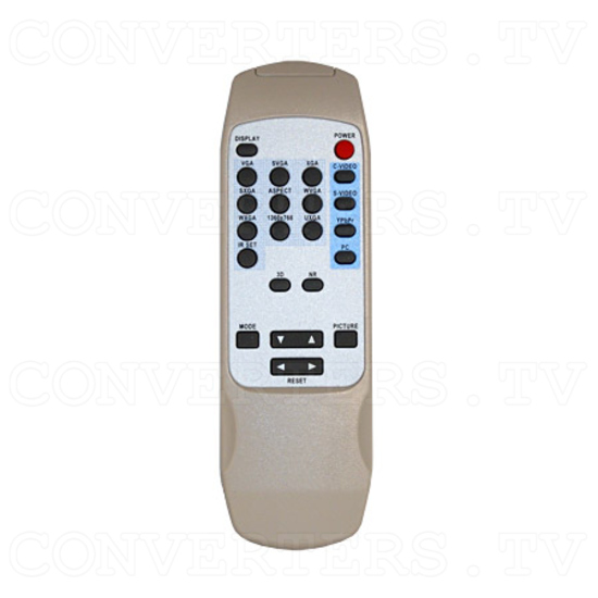 Video, PC, HDTV to UXGA Converter - Remote