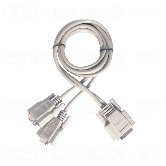 VGA to PAL Video Convertor / Converter (CPT-350) - Modified VGA Cord (Male to Male & Female)