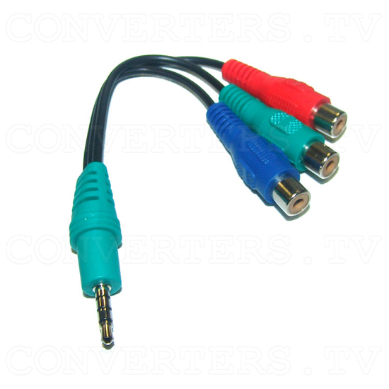 Worldwide super Multi-system Converter with TBC/GENLOCK (CDM-831T-RCA) - Male Line Jack to Female Composite Cable