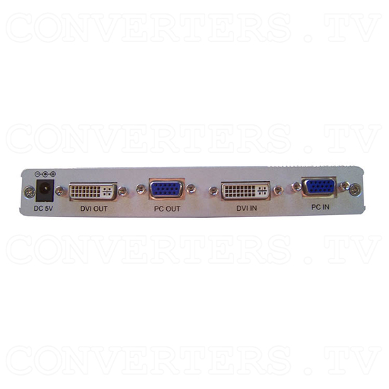 DVI Digital scaler with ultra high bandwidth - Back View