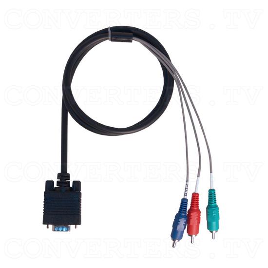 RGB Sync on Green 31k to VGA / HDTV Converter - VGA to Component AV