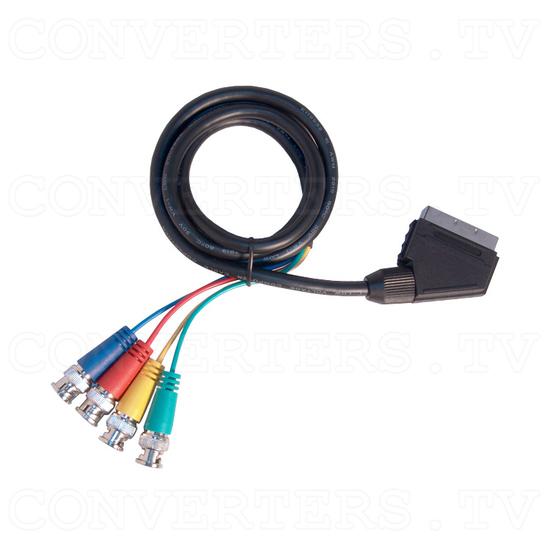 15K RGB Composite Sync to XGA Converter - SCART to 4 BNC Cable
