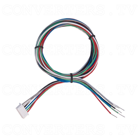 CGA to VGA Converter - LCD Suitable - Open Wire 6 Pin RGB Cable