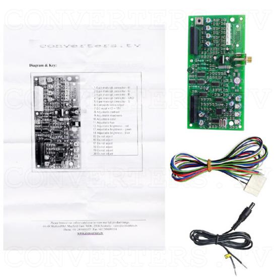NTSC, PAL to RGB Converter WP - Full Kit