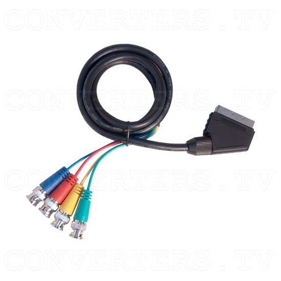 Scart to 4x BNC Cable - Full View