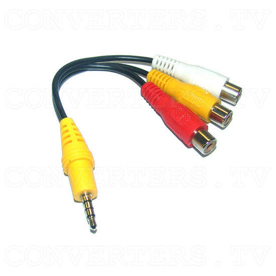 Security System Colour Quad Processor (CCQ-30) - Male Line Jack to Female AV Cable