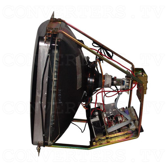 25 Inch CGA CRT Monitor & Chassis - Left View