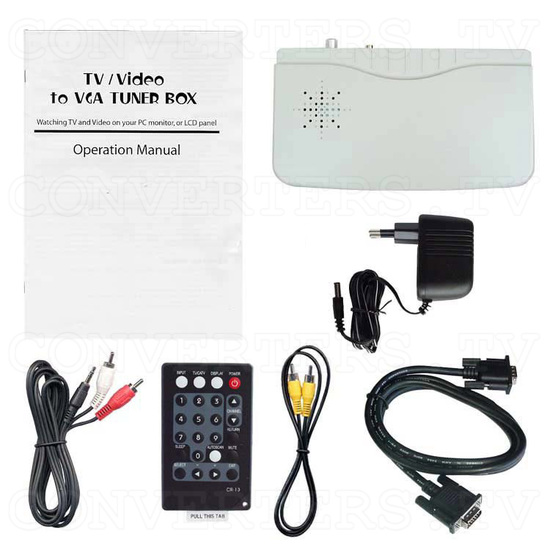 TV/ Video to VGA with PAL Tuner Box (CM-331T) - Full Kit