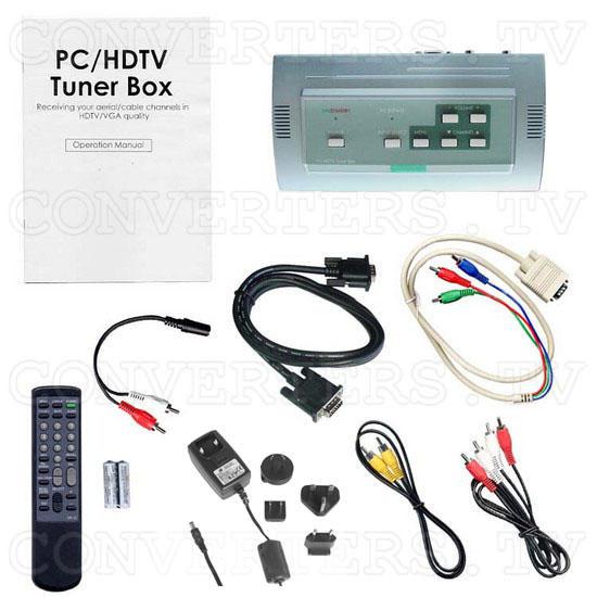 PAL B to VGA/ HDTV Tuner Box CSC-1200T - Full Kit