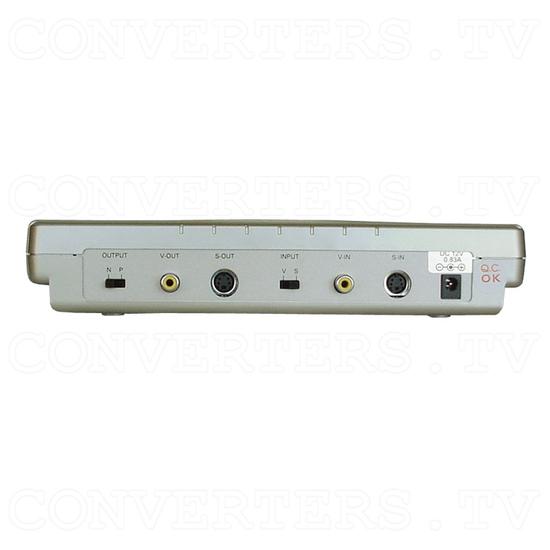 NTSC to PAL (PAL to NTSC) Digital Multisystem Converter - Car Application - Back View