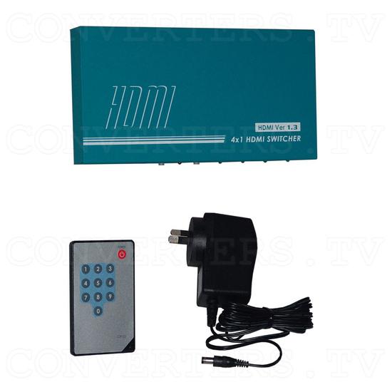 HDMI Switcher - 4 input : 1 output - Full Kit