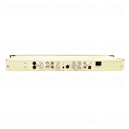 CDM-831TR - Worldwide Multi System Converter with TBC/GENLOCK with 19 Inch Rack - Back View