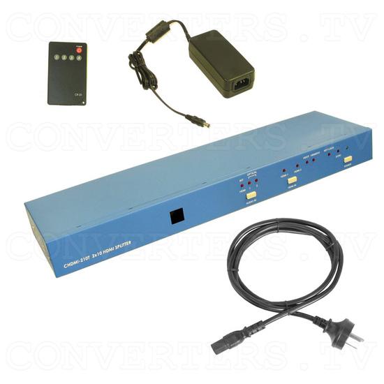 HDMI Splitter - 2 input : 10 output - Full Kit