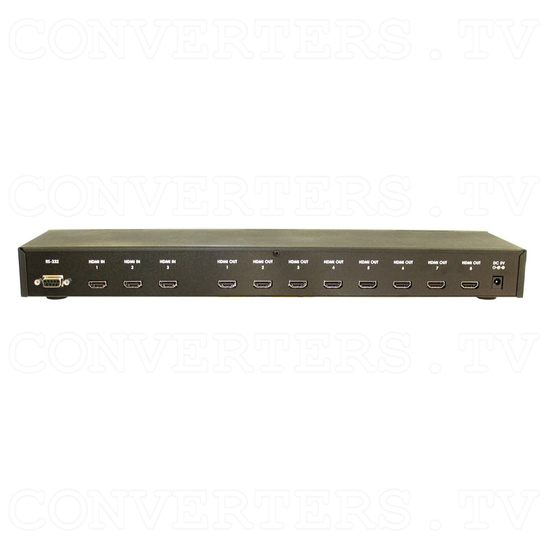HDMI Splitter - 3 input : 8 output - Back View