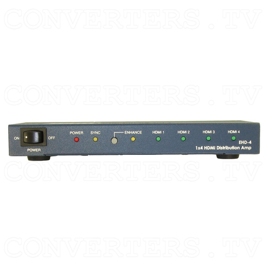 HDMI to HDMI Distributor Amplifier - 1 input : 4 output - Front View