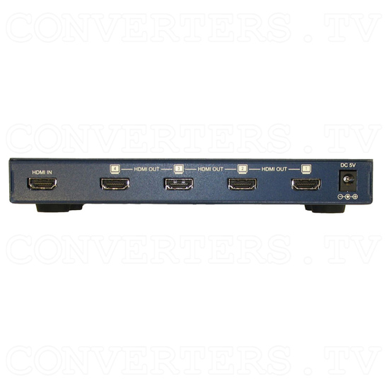 HDMI to HDMI Distributor Amplifier - 1 input : 4 output - Back View