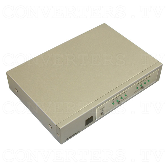 HDMI Matrix Selector - 4 input : 2 output - Full View