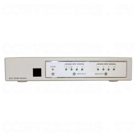 HDMI Matrix Selector - 4 input : 2 output - Front View