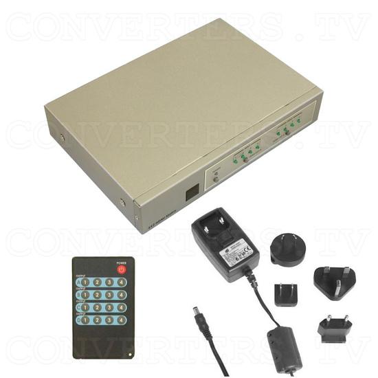 HDMI Matrix Selector - 4 input : 2 output - Full Kit