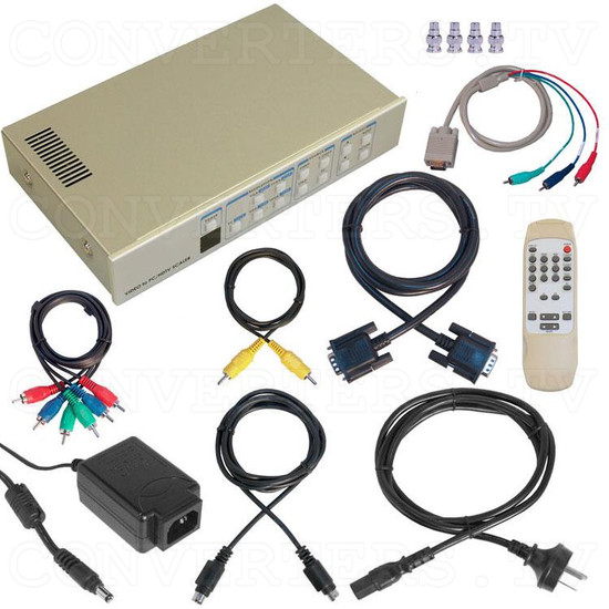 Video to 1080i RGB High Definition Component Converter/Scaler with RS232 - Full Kit