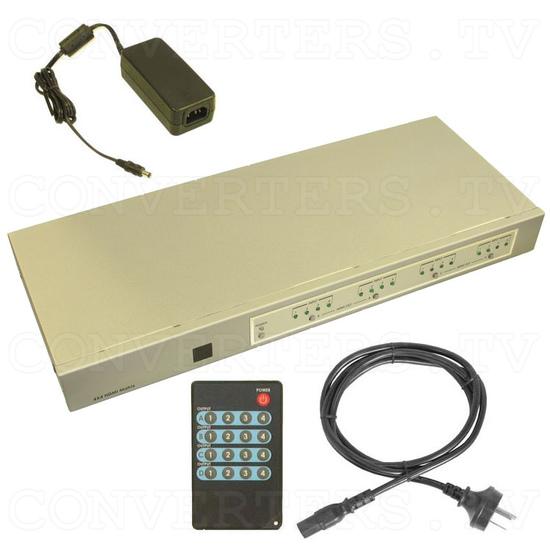 HDMI Matrix Selector - 4 input : 4 output - Full Kit