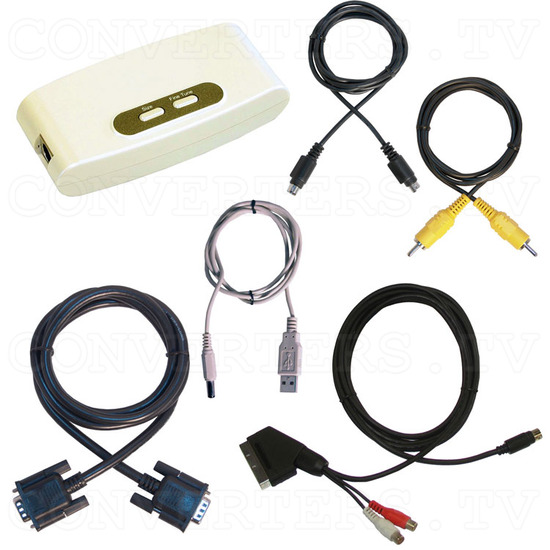 PC VGA to TV Video Converter - Hand View III - Full Kit