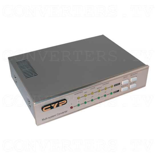 NTSC to PAL (PAL to NTSC) Converter with TBC/Frames Synchronizer (CDM-680) - Angle View