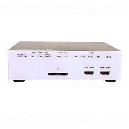 Video to HDMI Matrix Selector-Recorder 80G - Front View