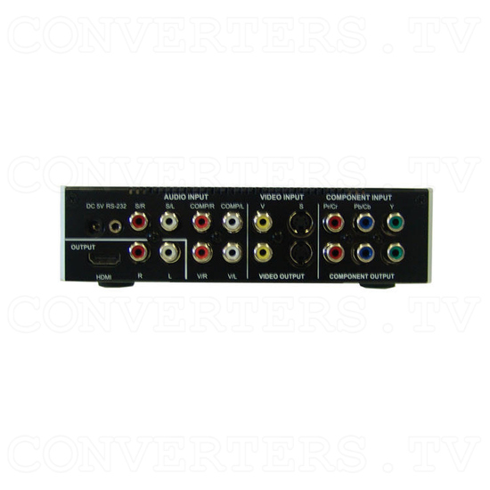 Video to HDMI Matrix Selector-Recorder 80G - Back View