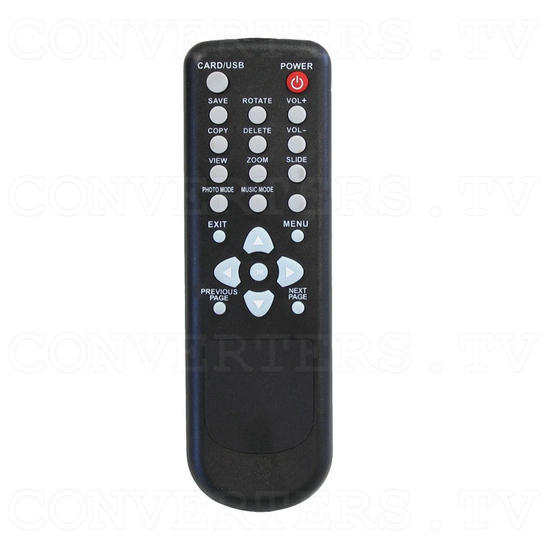 1080i Digital Photo and Music Media Player - Remote